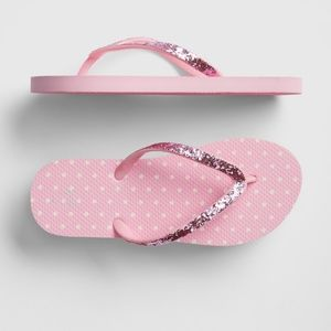 NWT GAP Kids Glitter Strap Flip Flops